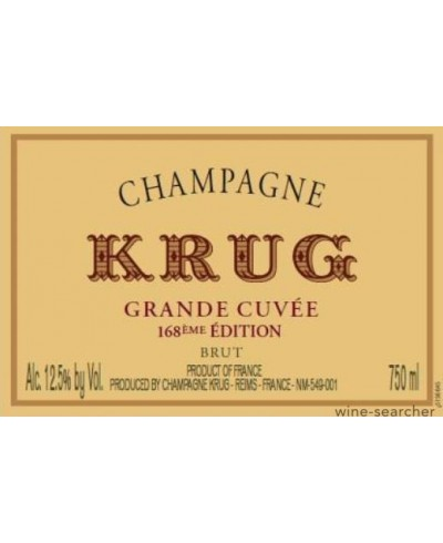 Krug Grande Cuvee 168th Edition NV
